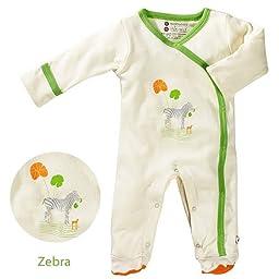 Babysoy Oh Soy Footie - Zebra-0-3 Months
