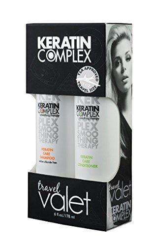 Travel Service (shampoo / balsamo 89 ml), 1 confezione (1 x 0,178 l) Keratin Complex