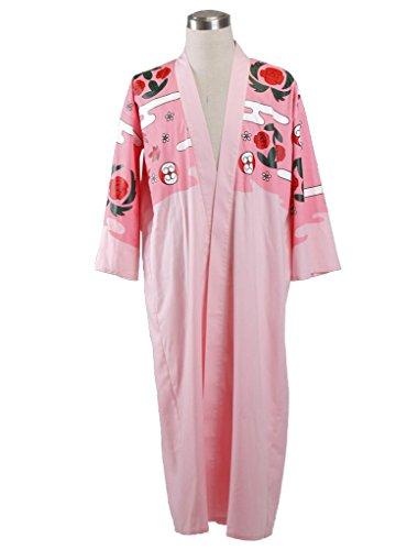 Mtxc Men's Bleach Cosplay Costume Kyoraku Shunsui Kimono Coat Size Small Pink