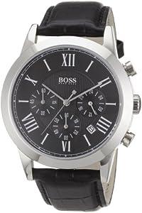 Hugo Boss - 1512574 - Gents Classic - Montre Homme - Quartz Analogique - Cadran Noir - Bracelet Cuir Noir