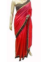 Sonal Saree Cotton Silk Saree(3_Red)