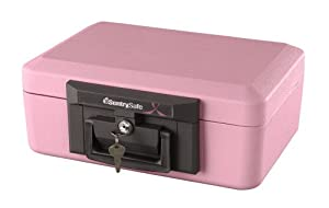 Sentry 1100P Security Chest Size Key Lock Fire Safe, Pink Breast Cancer Awareness