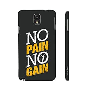 Enthopia Designer Hardshell Case No Pain No Gain 2 Back Cover for Samsung Galaxy Note 3