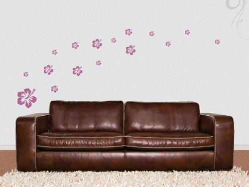 wallfactory-Adesivo da parete-16bellissimi fiori ibisco