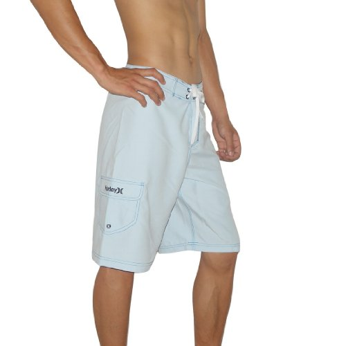 Mens Hurley Skate & Surf Boardshorts Board Shorts - Light Blue (Size: 34)