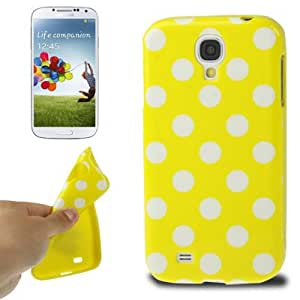 Yellow and White Dot Pattern TPU Case for Samsung Galaxy S4 i9500