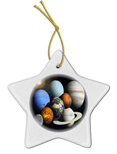 Rikki KnightTM Solar System Planets Design Porcelain Star Ornament