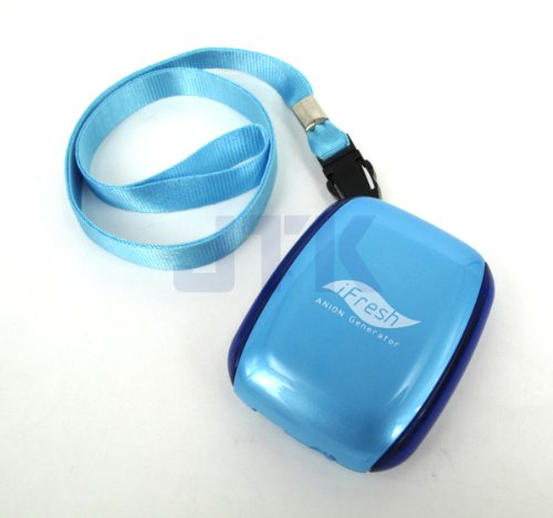 Portable Mini Ifresh Personal Ionic Air Purifier Necklace Ionizer Usb Rechargeable (Blue)