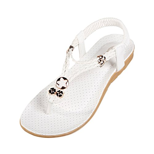 Hee Grand Women Bohemian Style Beach Thong Sandals for Holiday