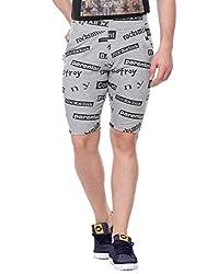 Glasgow Men's Cotton Shorts (NICK444_Grey_Medium)