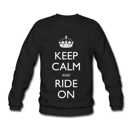 Spreadshirt, Keep Calm and Ride On, Men's Sweatshirt, black, XXL