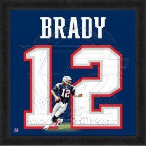 Tom Brady New England Patriots 20x20 Framed Uniframe Jersey Photo by Biggsports