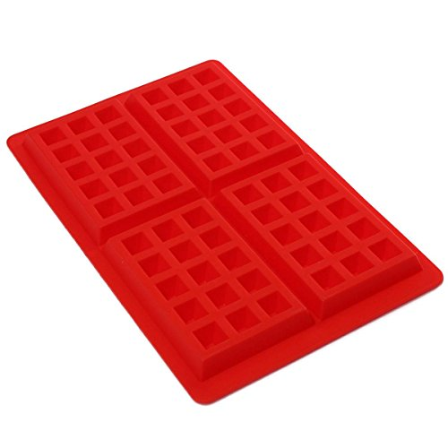 kingso-4-cavity-diy-mini-waffles-cake-chocolate-pan-silicone-tray-mold-baking-mould-tool-red
