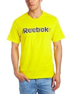 Reebok Men's T-Shirt - Yellow, Large
