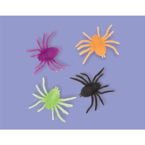 Halloween Neon Spiders Party Favours x 12