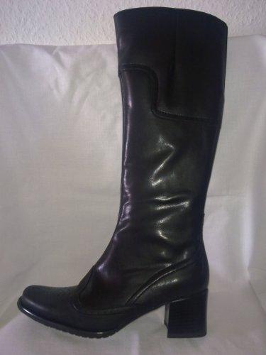 Ara Rene - Damenstiefel - schwarz - Glattleder - Lederfutter - RV - Größe 6