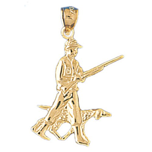14kt Yellow Gold Hunter Pendant14kt Yellow Gold Hunter Pendant