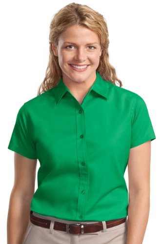 Port Authority Women'S Short Sleeve Open Collar Shirt_Court Green_L