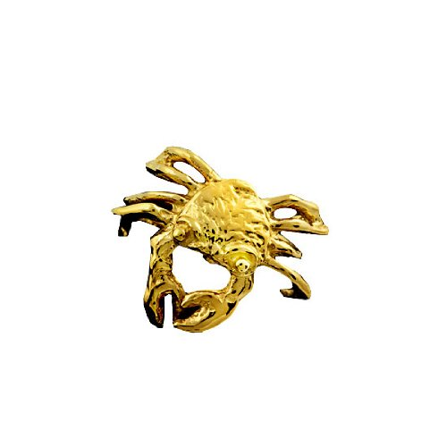 Gold Vermeil Pierceless Left Only Ocean Crab Ear Cuff
