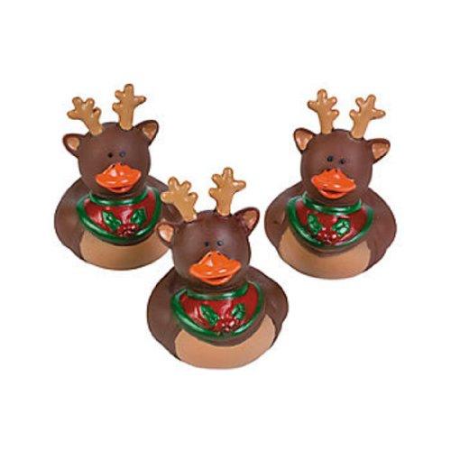 Vinyl Holiday Christmas Reindeer Rubber Duckies (9 Ducks) front-892779