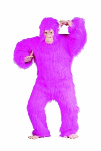 Pink Plush Adult Gorilla Costume