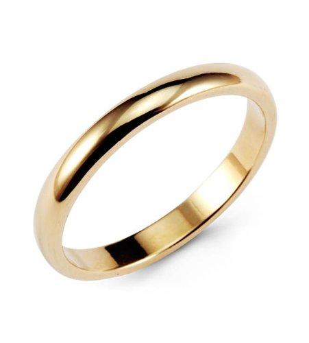 Classic 14k Yellow Gold Wedding Ring Anniversary Band