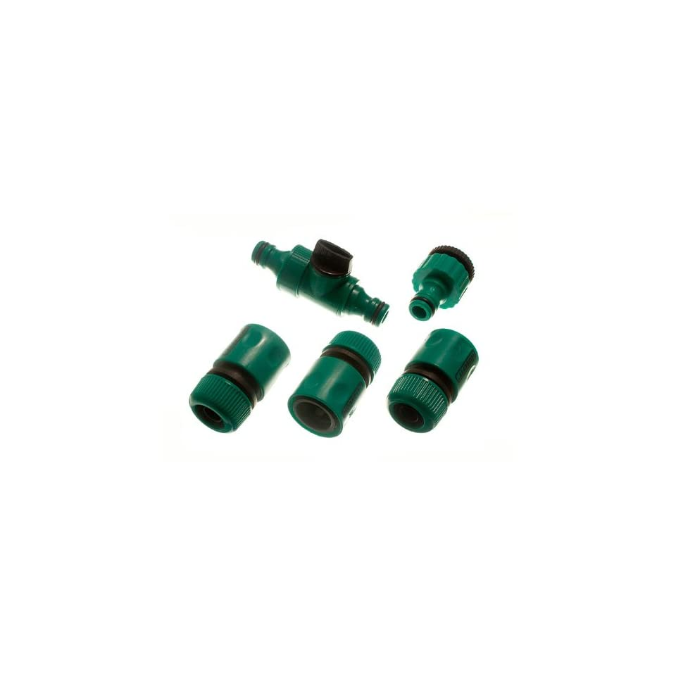 3 FEMALE QUICK FIX GARDEN HOSE FITTINGS 1 IN LINE TAP AND 1 TAP CONNECTOR