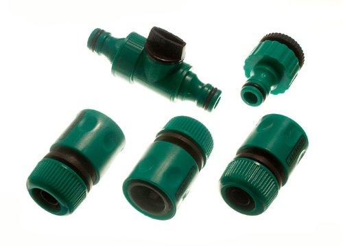 6-weiblich-Quick-Fix-Gartenschlaucharmaturen2-In-Line-Tap-And-2-Hahnstck