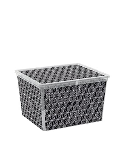 KIS opslag box set van 6 C -Box Cube zwart / transparant