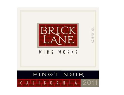 2011 Brick Lane Wine Works Pinot Noir, California 750 Ml