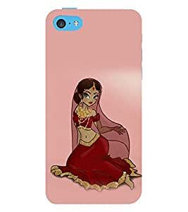 printtech Ethnic Saree Girl Back Case Cover for Apple iPhone 5S