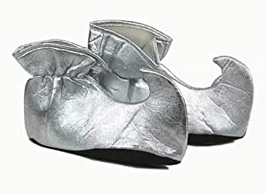 Silver Costume Elf Shoe Covers Adult by Forum Novelties
