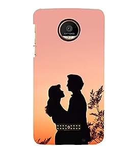 Romantic Couple 3D Hard Polycarbonate Designer Back Case Cover for Motorola Moto Z Force :: Motorola Moto Z Force Droid