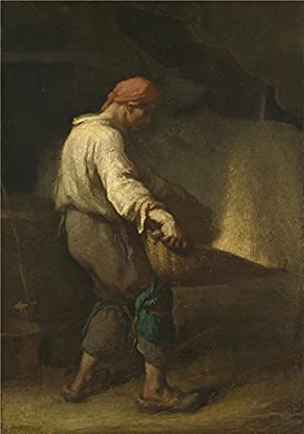 Oil Painting 'Jean Franois Millet The Winnower ' Printing On Perfect Effect Canvas , 12 X 17 Inch / 30 X 44 Cm ,the Best Laundry Room Artwork And Home Gallery Art And Gifts Is This High Quality Art Decorative Canvas Prints