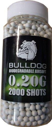 Bulldog High Pro Grade 6mm 0.20g Medium Weight BIODEGRADABLE WHITE BB Pellets x 2000 bottle