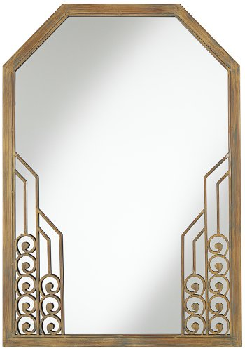 "Art Deco 24"" X 34"" Metal Wall Mirror front-1029425"