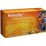 "Aurelia Velocity 2822 Latex Glove, Powder Free, 9.4"" Length, 5 mils Thick"