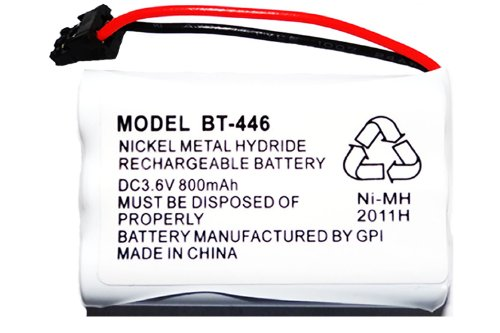 Rechargeable Replacement Bt-446 Battery For Uniden Cordless Phone Dc 3.6V 800 Mah