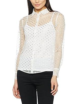 Patrizia Pepe Camisa Mujer (Plata / Blanco)