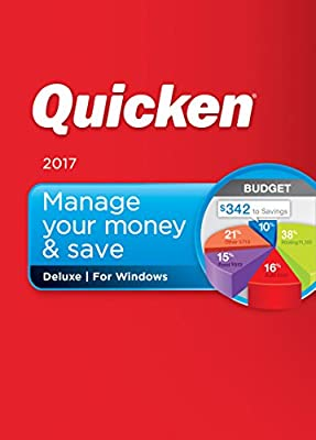 Quicken Deluxe 2017 Personal Finance & Budgeting Software (CD)