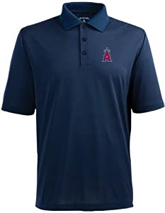 Los Angeles Angels Pique Xtra Lite Polo Shirt (Alternate Color) by Antigua
