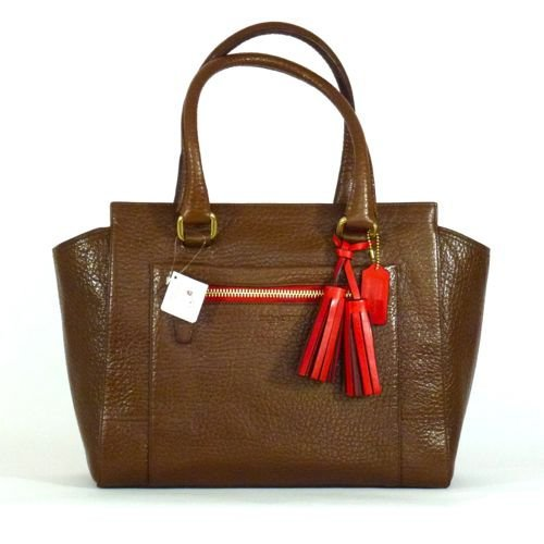 Coach Legacy Textured Leather Medium Candace Carryall Bag 19926 Brown Camelian