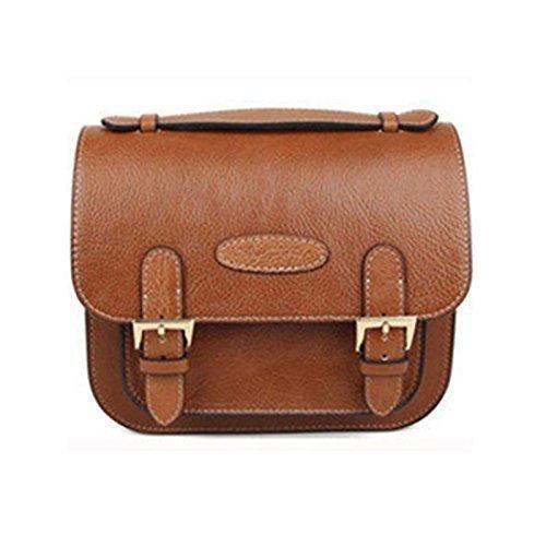 Gearmax® Retro PU Classic Leather Camera Bag Custodia con tracolla per Fujifilm Instax mini7/ 7s/ 8/ 20/ 25/ '50/ 55/ 90 telecamere(Marrone)