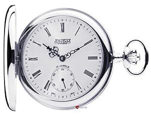 Sterling Silver Pocket Watch Full Hunter - 17 Jewel Mechanical Movement