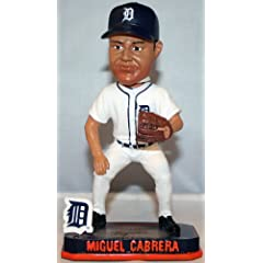 Detroit Tigers Miguel Cabrera Forever Collectibles Springy Logo Bobble by Forever Collectibles