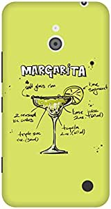 The Racoon Lean Lime Margarita hard plastic printed back case / cover for Nokia Lumia 1320
