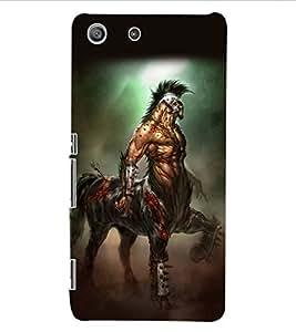 ColourCraft Horse Warrior Design Back Case Cover for SONY XPERIA M5 E5603 / E5606 / E5653