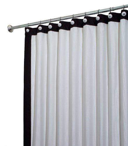 InterDesign Otto Framed Shower Curtain, White/Black