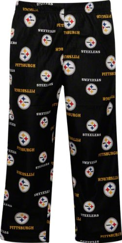 NFL Pittsburgh Steelers Toddler Allover Logo Flannel Pajama Pants - Black by Football Fanatics