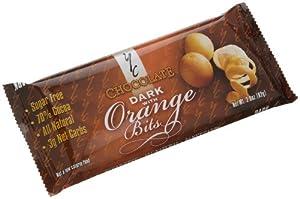 YC Chocolate (70% Cocoa) Dark with Orange Bits, Sugar Free, 2.9-Ounce Bars (Pack of 8)